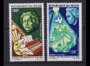 Niger 1970 200. Geburtstag Ludwig van Beethoven Mi.-Nr. 269-270 postfrisch **