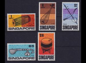 Singapur 1969 Traditionelle Musikinstrumente Mi.-Nr. 107-111 postfrisch **