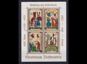 Liechtenstein 1970 Minnesänger Blockausgabe Mi.-Nr. Block 8 postfrisch **