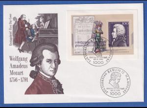 Bundesrepublik 1991 W. A. Mozart Mi.Nr. Block 26 auf Ersttagsbrief FDC