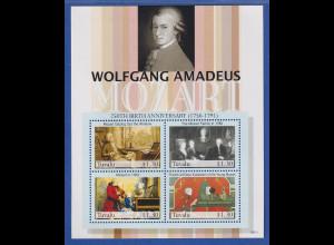 Tuvalu 2006 W. A. Mozart Kleinbogen Mi.-Nr. 1303-1306 postfrisch **