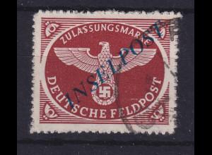 Feldpostmarke Inselpost Agramer Aufdruck Mi.-Nr. 10 B b I gestempelt