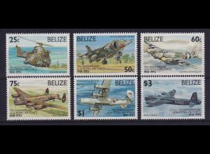 Belize 1993 75 Jahre Royal Air Force Mi.-Nr. 1102-1107 postfrisch **