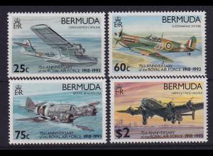 Bermuda 1993 75 Jahre Royal Air Force Mi.-Nr. 635-638 postfrisch **