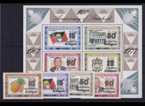 Barbuda 1978 Mi.-Nr. Satz Block 30 postfrisch ** / MNH 10 Jahre Unabhängigkeit