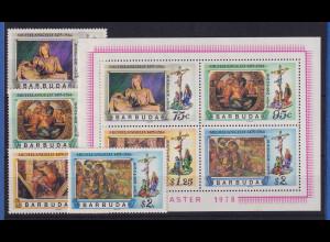 Barbuda 1978 Mi.-Nr. 377-380 und Block 31 postfrisch ** / MNH Michelangelo