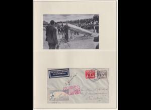 Autogrammbeleg GERHARD ZUCKER (1908-1985) von 1935 auf Raketenpost-Brief