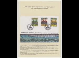 Cabo Verde (Kapverdische Inseln) 1985 Hundertwasser FDC und 3 Blocks **