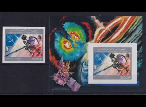 Komoren 1990 Sonde Cassini Mi.-Nr. 945 B und Block 330 **