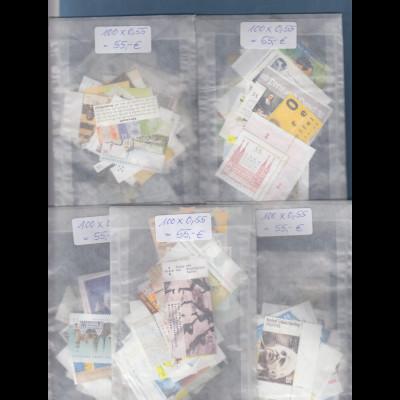 Frankaturware Deutschland orig. postfrisch zu 500x0,55€ = 275€ Frankaturwert