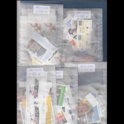 Frankaturware Deutschland orig. postfrisch 500 Werte 0,55€ = 275€ Frankaturwert