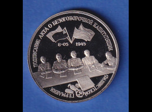 Russland 3 Rubel 1995, 50 Jahre Kapitulation Deutschlands
