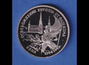 Russland 3 Rubel Einnahme von Wien 1995