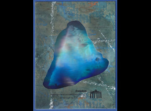 Bund 1990 Philatelistisches Gedenkblatt 1. Jahrestag Mauerfall mit Hologramm