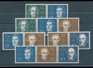 Bundesrepublik 1959, alle Zusammendrucke aus dem Beethovenblock kpl. **
