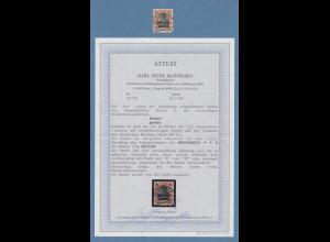 Memelgebiet Germania 30Pfg Mi.-Nr. 5ya O HEYDEKRUG 20.10.20 mit Attest Matheisen
