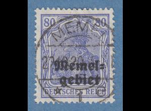 Memelgebiet Germania 80Pfg Mi.-Nr. 17b grauultramarin O gpr. Dr. PETERSEN BPP