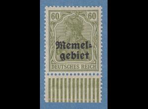 Memelgebiet Germania 60 Pfg Mi.-Nr. 16y gerrifelter Gummi ** gpr. MATHEISEN BPP