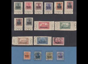 Memelgebiet Freimarken 1. Ausgabe 1920 Mi.-Nr. 1-17 kpl. O, wichtige geprüft !