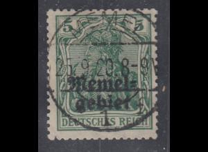 Memelgebiet Germania 5Pfg Mi.-Nr. 1a gestempelt MEMEL
