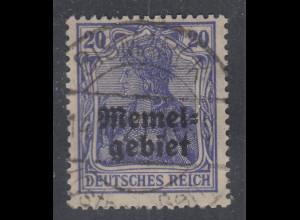 Memelgebiet Germania 20Pfg Mi.-Nr. 4 gestempelt BISMARCK