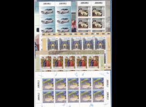 Frankaturware Deutschland orig. postfrisch, 200x 1,45 in 10er-Bogen = 290,00 €