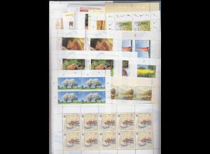 Frankaturware Deutschland orig. postfrisch, 800x 0,55€ in 10er-Bogen = 440,00 €