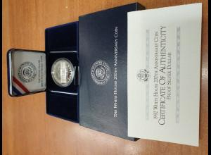 USA Silbermünze 1992 The White House 200th Anniversary coin PP / proof im Etui