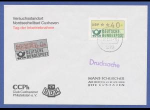 ATM Deutschland 1. Ausgabe, MWZD-Inbetriebnahme FDC Cuxhaven, 22.1.1981