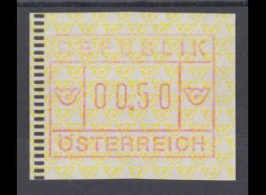 Österreich 1988 2. FRAMA-ATM Ausgabe Posthörner, Mi.-Nr. 2 **