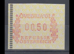 Österreich FRAMA-ATM Sonder-Ausgabe ÖVEBRIA 2001 Mi.-Nr. 5 **