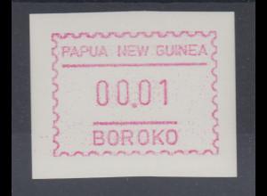 Papua Neuguinea 1990 1. FRAMA-ATM mit Inschrift BOROKO, glatt, Mi.-Nr. 1w **