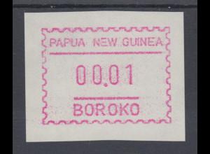Papua Neuguinea 1990 1. FRAMA-ATM mit Inschrift BOROKO, rauh, Mi.-Nr. 1y a **