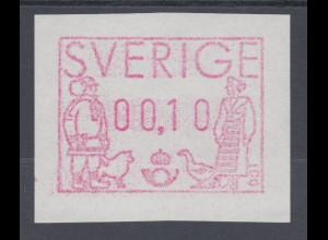 Schweden 1991 , FRAMA ATM Mi.-Nr. 1 ** Besonderheit weisses Papier