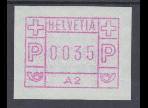 Schweiz 1976, FRAMA-ATM aus Automat A2 , Wertstufe 0035 ** Mi.-Nr. 1.2