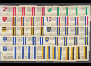 Liechtenstein FRAMA-ATM 1.Ausgabe 1995 Mi.-Nr. 1-11 je Motiv Satz 60-80-100-180
