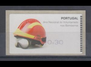 Portugal ATM Feuerwehr 2008, Druck SMD, violett, ohne AZUL, Mi.-Nr. 62.1 f Z1