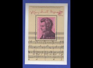 DDR 1981, Blockausgabe Wolfgang Amadeus Mozart , Mi.-Nr. Block 62 **