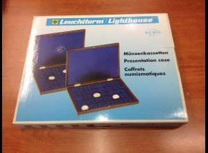 Leuchtturm Münzkassette Fußball WM 2006 f. 4x5 Pragestetten = alle 20 10€-Münzen